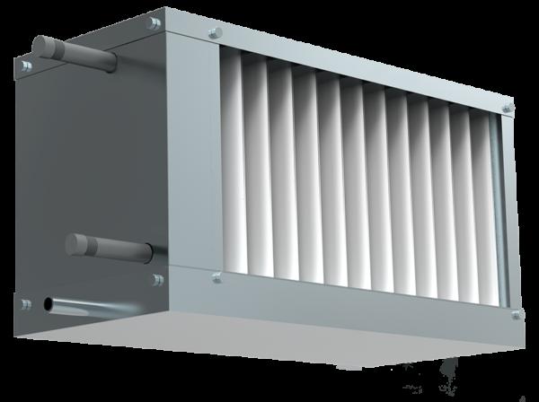 Водяной охладитель для прямоугольных каналов WHR-W 500*250-3