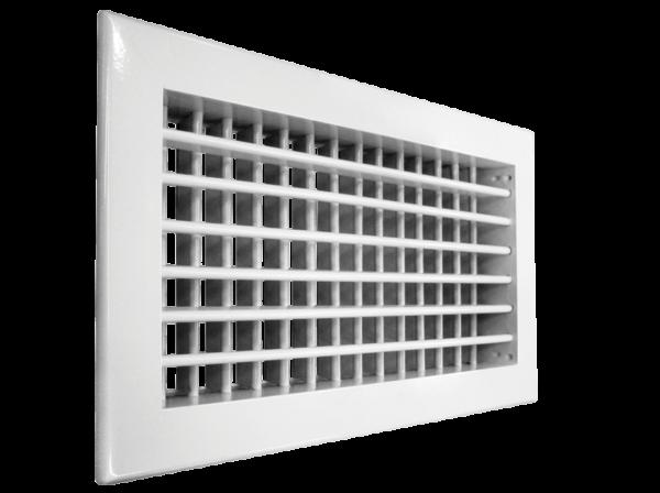 Настенная двухрядная решетка Shuft 2 WA 200*200