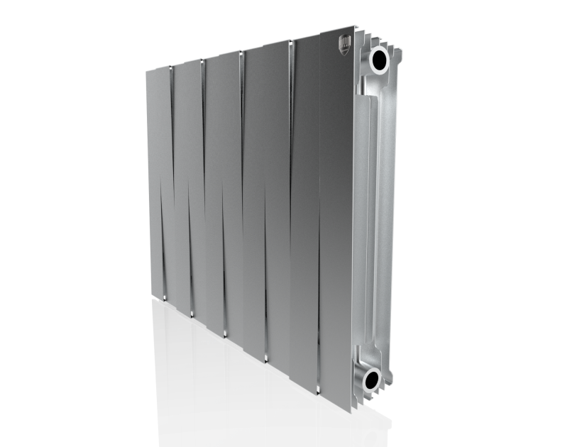Радиатор биметалл Royal Thermo PianoForte 500 Silver Satin - 10 секц.