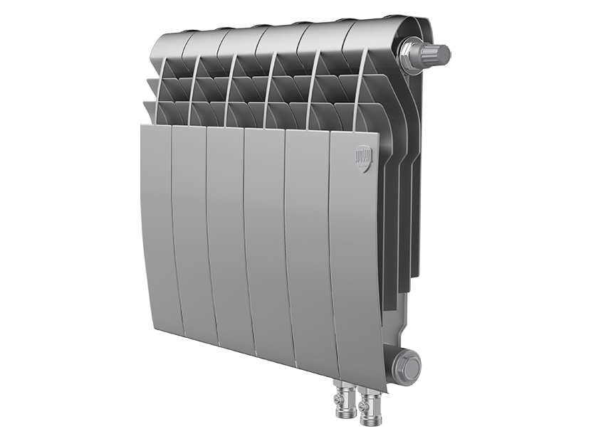 Радиатор биметалл Royal Thermo BiLiner 350 /Silver Satin VDR - 6 секц.