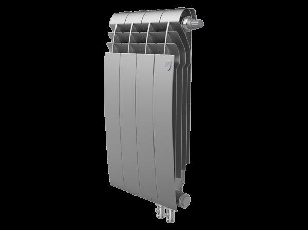 Радиатор биметалл Royal Thermo BiLiner 500 /Silver Satin VDR - 4 секц.